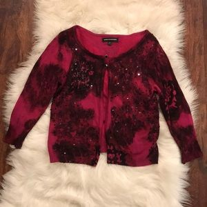 Express embroidery cardigan